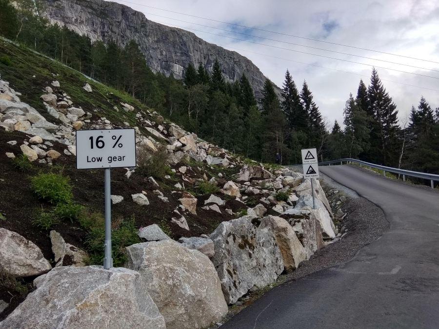 Desniveles en los primeros kilómetros de la ruta.