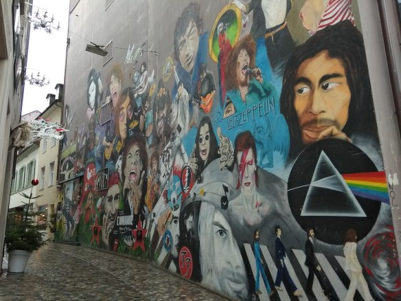 Uno de los murales más famosos.
