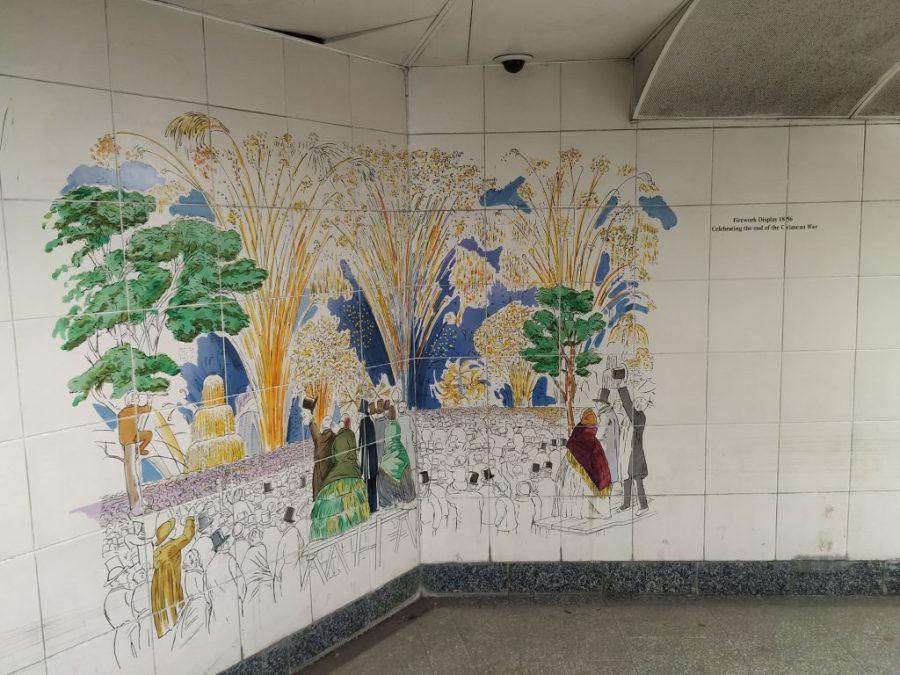 Murales en Hyde Park Corner Metro.