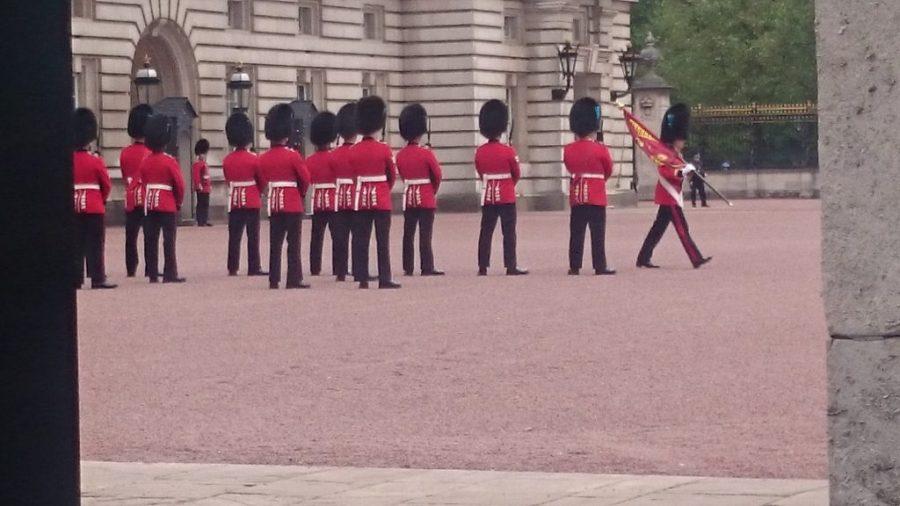 Cambio de guardia en el Buckingham Palace.