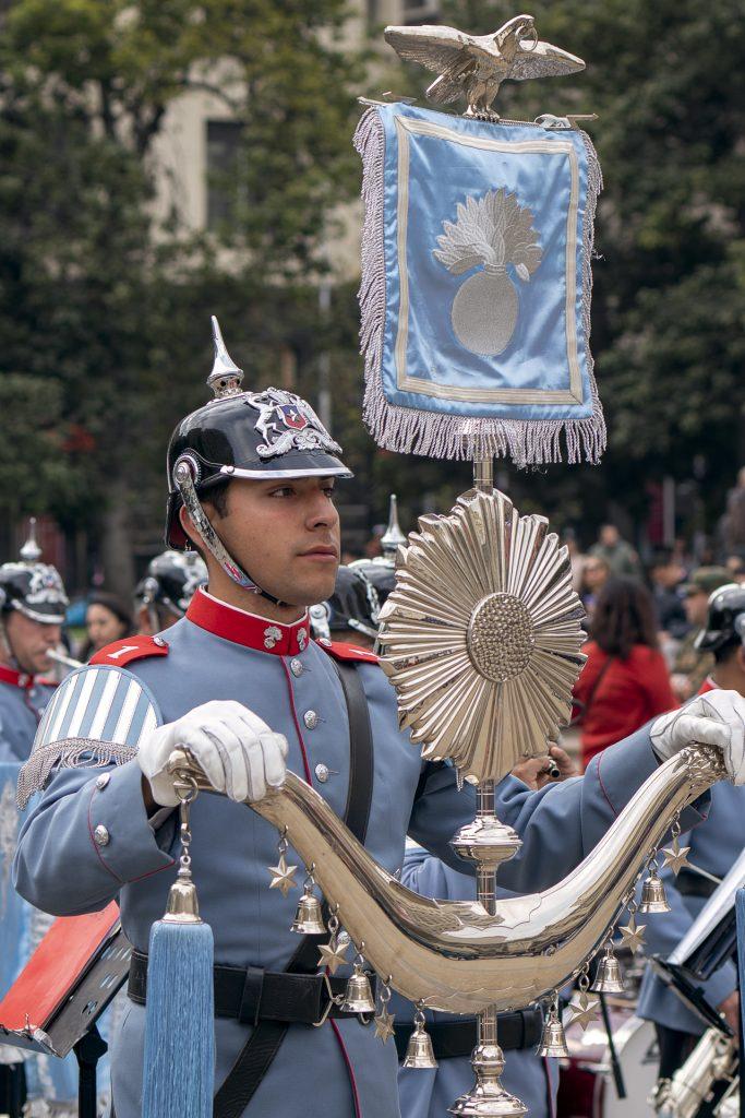 Schellenbaum del Regimiento Escolta Presidencial Granaderos