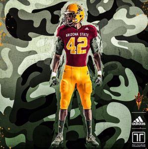 Sun Devil football unveiled the Salute to Service uniforms on Thursday. The uniforms commemorate the late Pat Tillman. Courtesy: Sun Devil Athletics