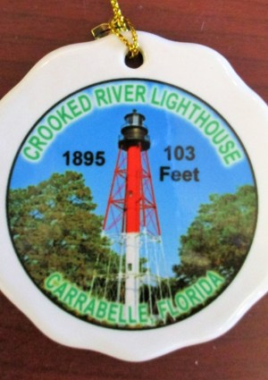Crooked River Lighthouse Ceramic Ornament