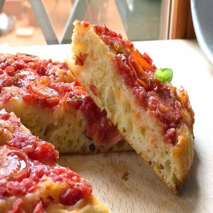 Pizza Téglia - la part
