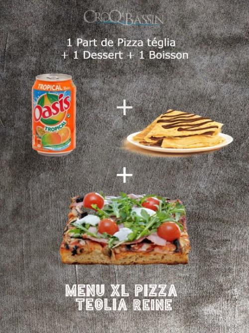 1 Menu Pizza Téglia Reine XL