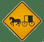 mennonite crossing sign