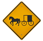 mennonite crossing sign