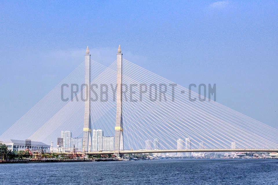A bridge over Bangkok river