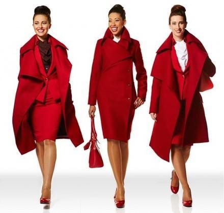 Virgin Atlantic new ensembles.