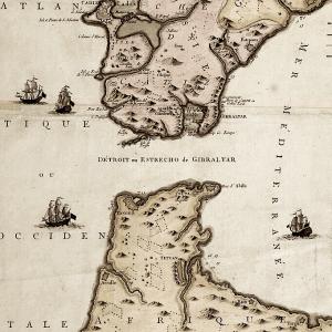 Strait of Gibraltar map