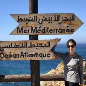 Place where you can see both the Atlantic Ocean and the Mediterranean Sea