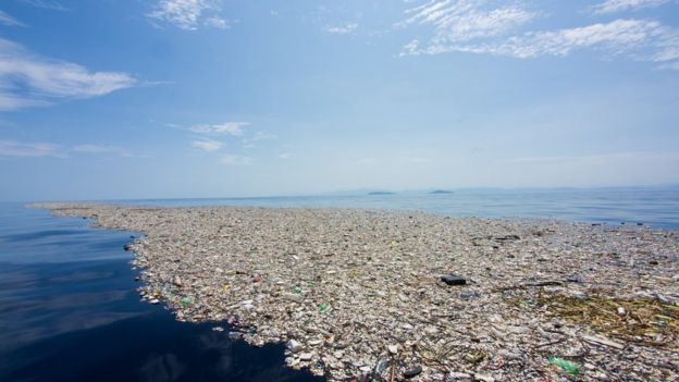 Plastic 'Island' in the Caribbean