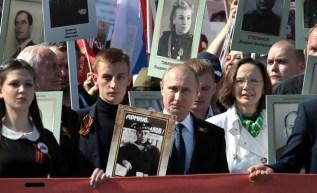 Резултат с изображение за Путин Марш на БЕзименния полк изображения