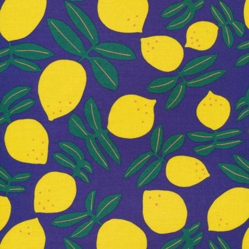 Cloud9 Matte Laminate Fabric - Lemons on Repeat