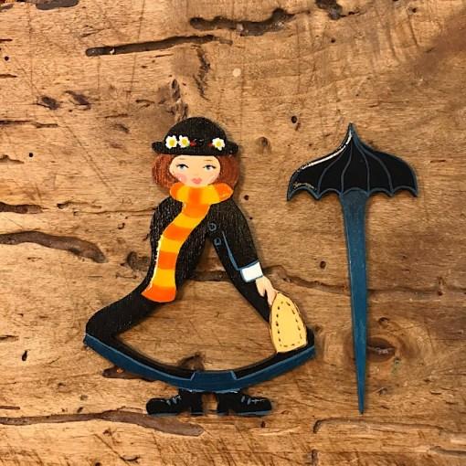 Zoownasta shawl pin Mary Poppins
