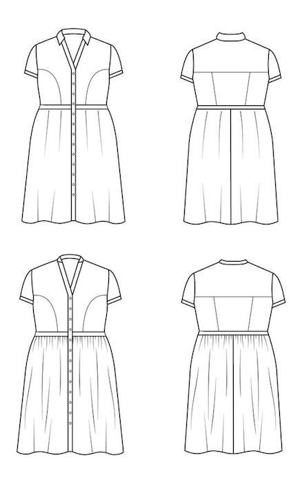 Lenox Shirtdress Views