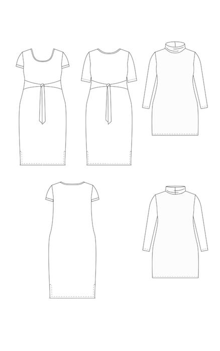 Pembroke Dress and Tunic Pattern Views