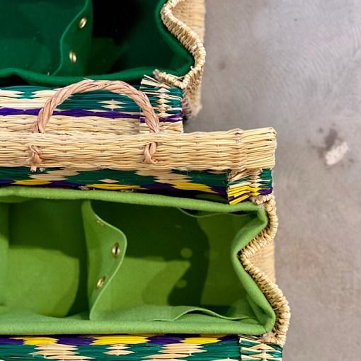 Interior lining in Cesta baskets