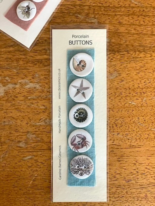 Carol Barnes Ceramic Buttons seashore