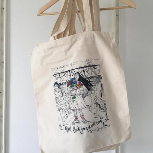 Salina Jane Art Knitters Tote Bag - But Sock Yarn Doesn't Count...