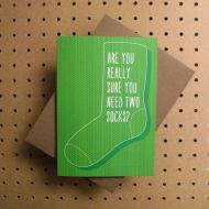 Tilly Flop - are you really sure you need two socks ? Greeting Card