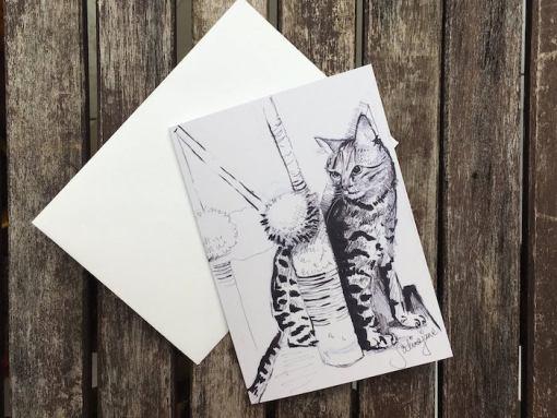 Salina Jane Art Greetings Card - Magik in his tree