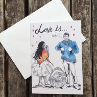 Salina Jane Love is Greeting card