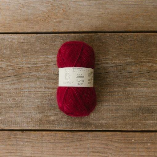Biches & Bûches Le Gros Silk & Mohair Red Burgundy