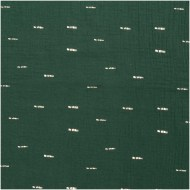 Rico Design Crinkle Muslin - Green Hot Foil