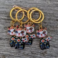 An Caitín Beag Party Cat Stitchmarkers