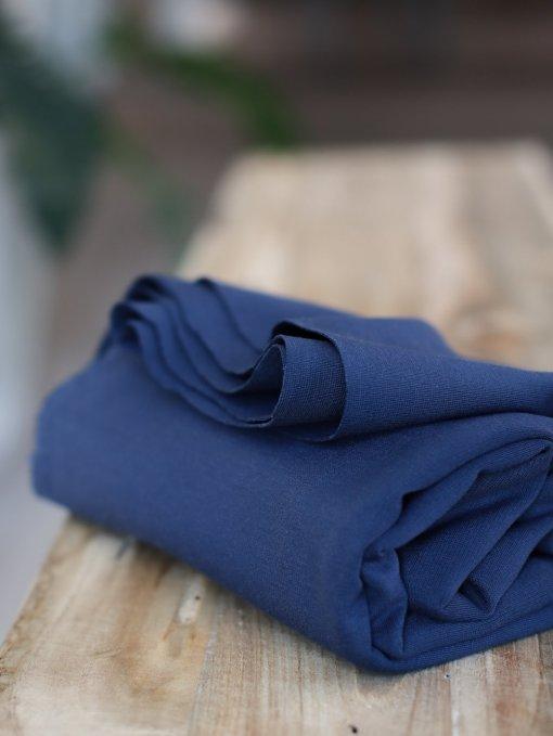 Meet Milk Plain Ponte Knit - Blueberry