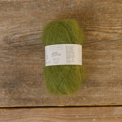 Biches & Bûches Le petit Silk mohair medium green blue