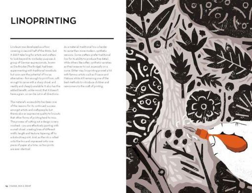 Crafted – A compendium of crafts- New, old & forgotten – Sally Coulthard lino