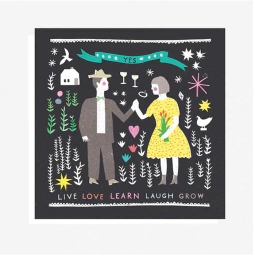 The Printed Peanut Folk Life Collage card