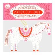 The Printed Peanut Paper Cut HORSE