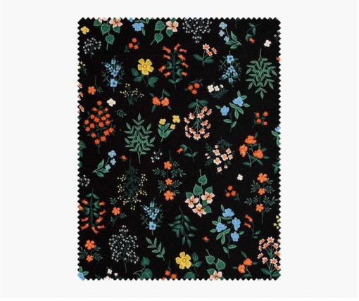 Rifle paper co Strawberry fields cotton Black