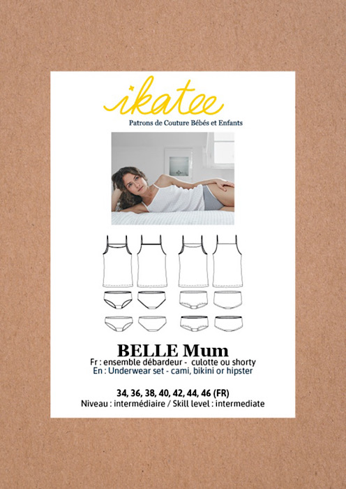 Front cover Belle Mum – Ikatee Paper Sewing Pattern