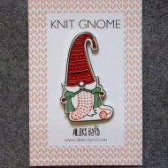 Aleks Byrd Knitting gnome pin