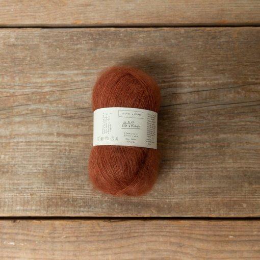 Biches & Bûches le petit mohair red brown