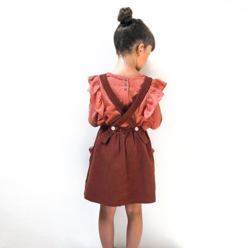 Ikatee Hibiscus back of pinafore