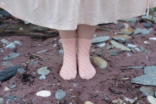 Modeling socks Making Magazine - No. 11 DAWN