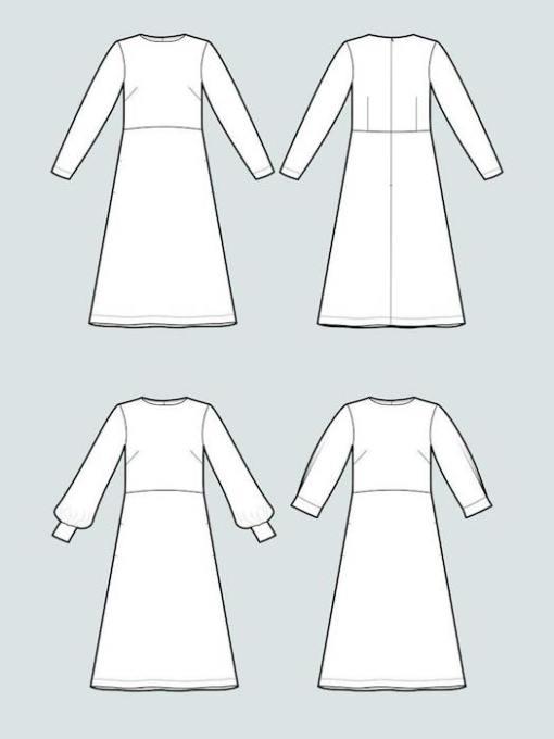 The Assembly Line Multi-Sleeve Midi Dress