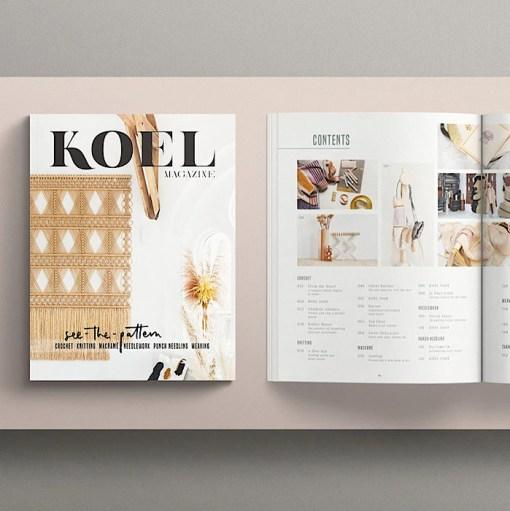 flatlay Koel Magazine Issue 11/2021 contents
