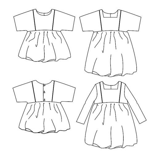 Views Ikatee Sakura Paper Sewing Pattern