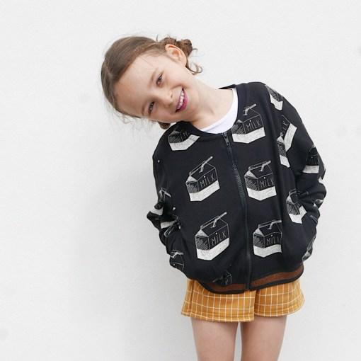 Modeling Jules Bomber Jacket/Vest - Ikatee Paper Sewing Pattern