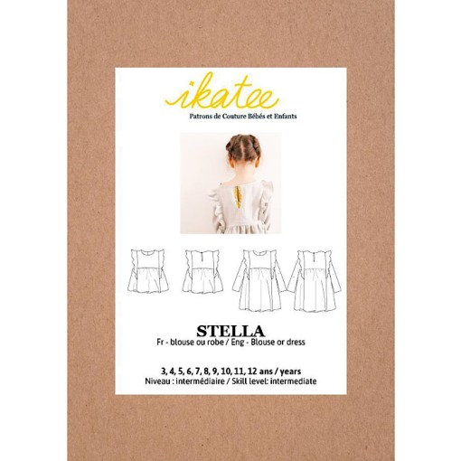 Front cover Stella Blouse & Dress - Ikatee Paper Sewing Pattern
