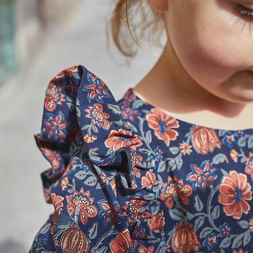 Detail sample Stella Blouse & Dress - Ikatee Paper Sewing Pattern