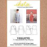 Front cover Violette Dress - Ikatee Paper Sewing Pattern