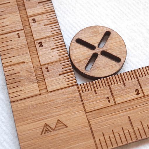 Measure The Sashiko Button - Arrow Mountain