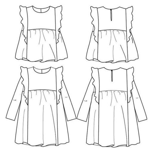 Views Stella Blouse & Dress - Ikatee Paper Sewing Pattern